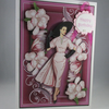 Handmade  Art Deco Lady Birthday Card,Decoupage,3D, Personalise