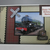 Steam Train 3D Birthday Card, Personalise