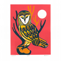 Tyto - Limited Edition Screenprint (pink-yellow)