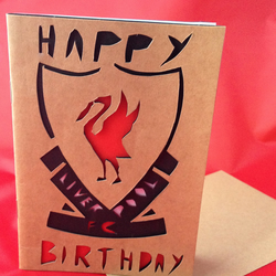 Liverpool FC (unofficial) Handmade Birthday card