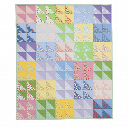 'Heavenly 30's' Patchwork Quilt Throw
