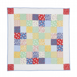 30s Retro Patchwork Quilted Blanket Throw Playmat
