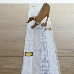 Natural Colours Quilted Patchwork Table Runner