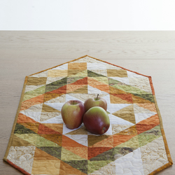 Quilted Patchwork Table Runner in Autumnal Colours
