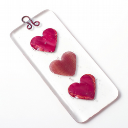 Mini Heart Fused Glass Wall/Window hanging