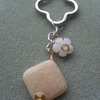 Honey Quartz Keyring