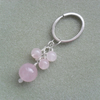 Rose Quartz Keyring Charm