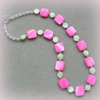 SALE!! Was 12.95 now 6 pounds 50 Pink and Green Shell Necklace