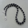Black Onyx and Czech Glass Sterling Silver Necklace
