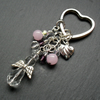 Angel Keyring With Crystals and Semi Precious Gemstones