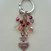 Knitting Diva Keyring Czech Glass Beads