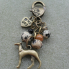 Small Bag Charm With Greyhound Dog