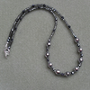 Czech Glass and Hematite Sparkle Necklace