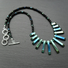 Green Blue Haematite Bib Style Necklace
