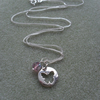 Sterling Silver Butterfly Charm and Swarovski Crystal Necklace