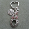 Angel Feathers With Crystal Beads Keyring