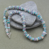 Lilac Amethyst Amazonite and Morganite Semi Precious Gemstone Necklace