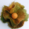 Autumn Felted Small Flower Brooch