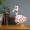 Ophelia the duck, bird textile Liberty fabric taxidermy sculpture, free P&P UK