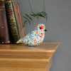Lavender textile bird made with Liberty Arcade Carlino fabric, free P&P UK