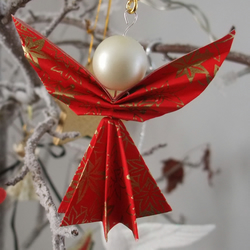 Origami Angel Christmas Decorations (Set of 4)