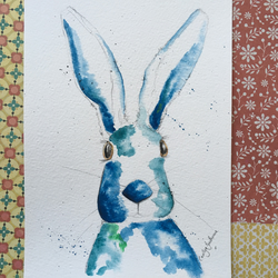 Blue Hare Painting