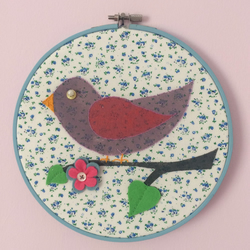 Blue Bird Embroidery Hoop Picture