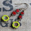Vibrant Czech Glass Drop Earrings