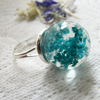 Real Flower Botanical Ring - Gypsophila Baby's Breath