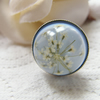 Christmas Snowflake Queen Anne's Lace Flower Blue Ring - SNOWFLAKE