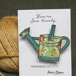 Textile Watering Can Brooch