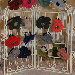 Handmade Flower Rings with Vintage Buttons