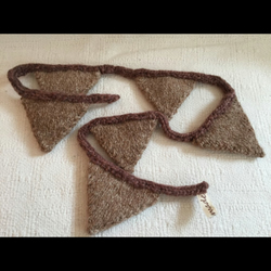 100% Alpaca and merino wool hand knitted bunting