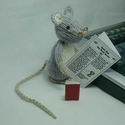 Little Grey Reading Mouse
