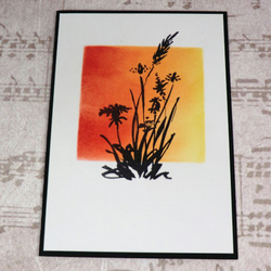 Card - Wildflower Silhouette