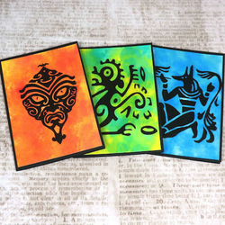 ***SALE*** Pack of 3 Mini Cards - Tribal