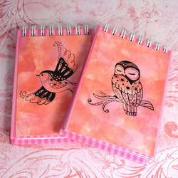 Pack of 2 A7 Notebooks - Bird and Owl