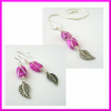 FREE Earrings this weekend - Pink Wire Wrapped Necklace