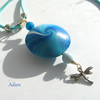 SALE Blue and Turquoise Dragonfly Pendant