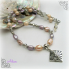 SALE Lilac and Peach Freshwater Pearl Necklace