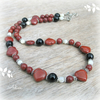 SALE Red Jasper Hearts Necklace