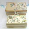 Paris Bicycle Hand Decorated Wooden Box with Gift Box