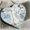 Christmas Hare Hanging Heart Decoration