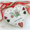 Christmas Mouse Heart Decoration