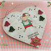 Christmas Singing Mouse Heart Decoration