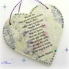 Apache Blessing Decorative Wooden Heart