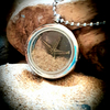 Memory Locket sand pendant necklace