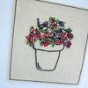 Embroidered Flower Pot - Birthday Card