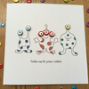 Aliens Birthday Card - Martians Birthday Card - Outer Space Birthday Card
