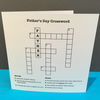Father's Day Crossword Card